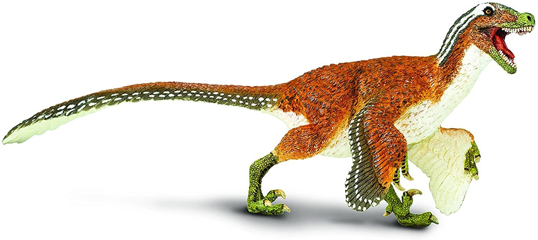 Safari Ltd. Wild Safari Prehistoric World Collection - Hand Painted Realistic Feathered Velociraptor 8.5