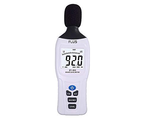 MeterTo Digital LCD Sound Level Meter ET-933 Noise DB Decible Meter Lo:30dB~80dB; Med:50dB~100dB; Hi:80dB~130dB; Auto:30dB~130dB 31.5Hz~8kHz A & C Weighting