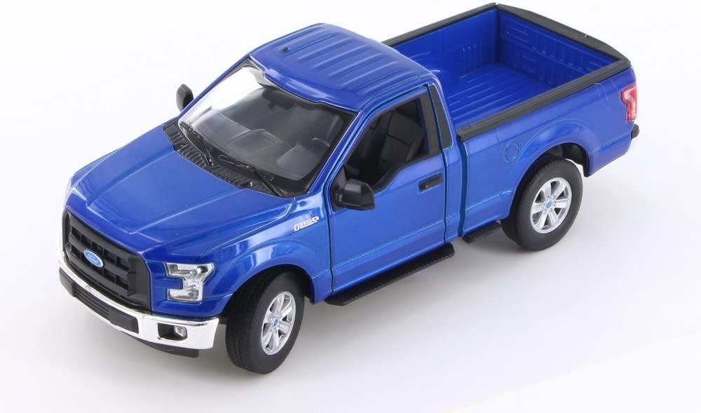 Welly 2015 Ford F-150 Regular Cab Pick Up, Blue 24063WBU - 1/24 Scale Diecast Model Toy Car