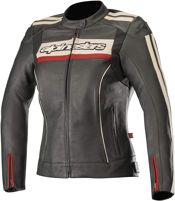 Stella Dyno v2 Leather Street Motorcycle Jacket (50 EU, Black Stone Red)