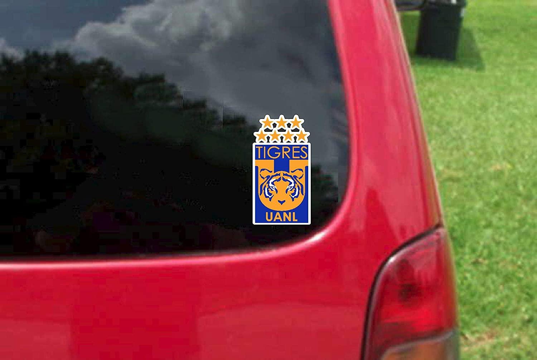 Set (2 PCS) Tigres UANL Futbol Mexico Decals Stickers Full Color/Weather Proof (5