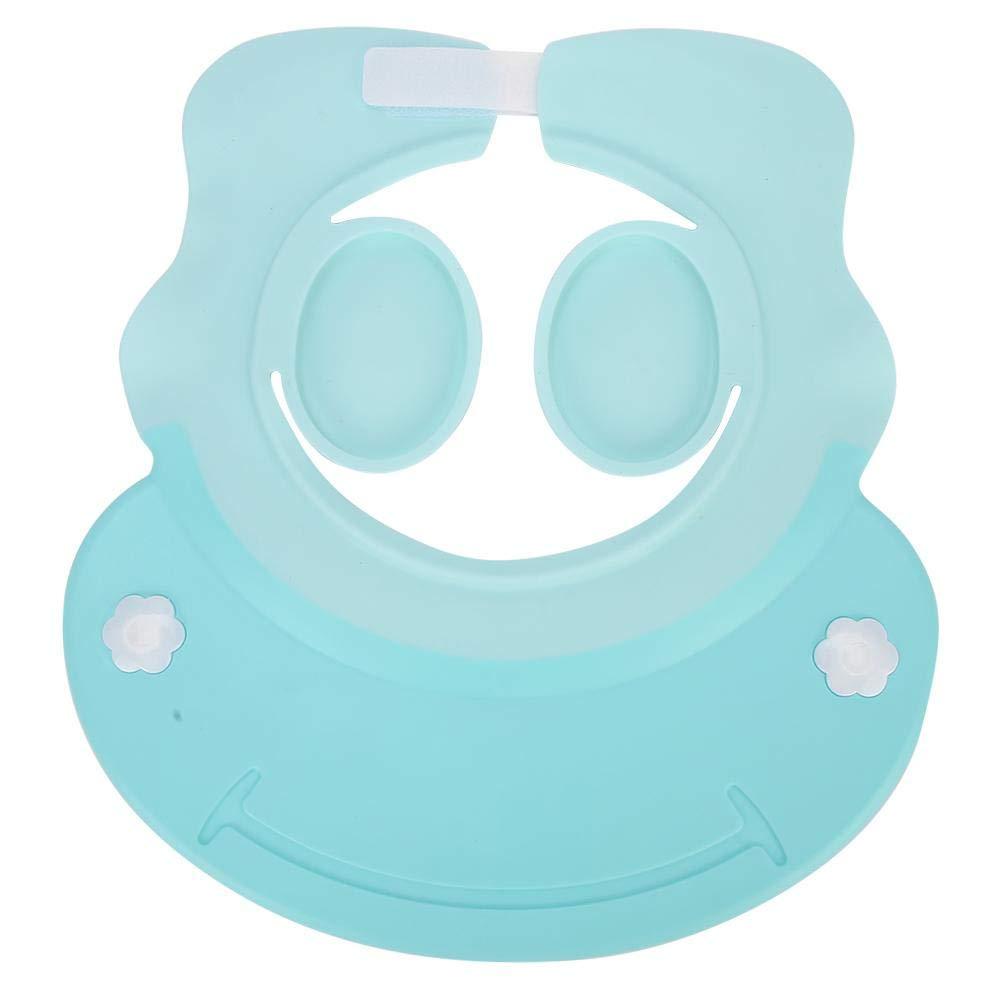 Bath Hat,Baby Shampoo Hat,Kid Bathing Hat,Adjustable Ear Protection,Children Kid Bathing Hat Accessory Blue