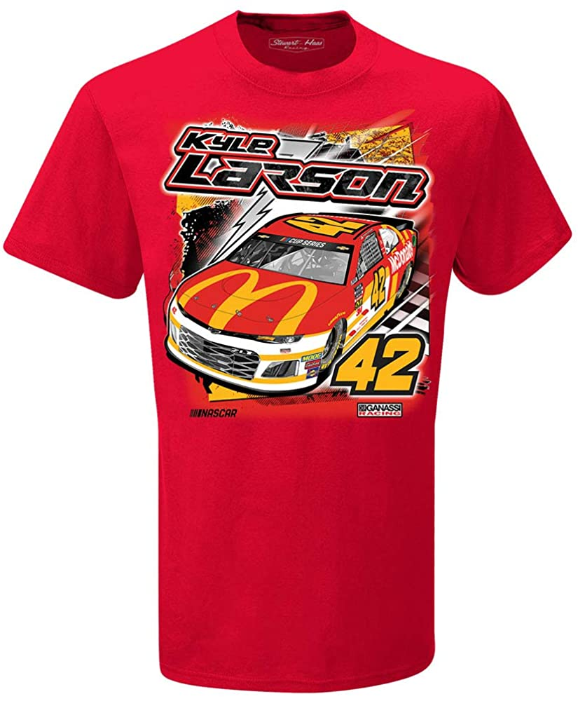 SMI Properties Kyle Larson 2020 McDonald's Backstretch T-Shirt Red