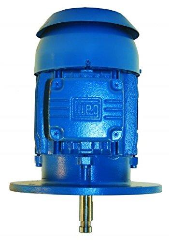 WEG Electric 00318ET3E182HP-W22, 3HP, 1800 RPM, 3PH, 230V/460V, 182HP Frame, P-BASE Flange, Footless, TEFC, P-Base Pump Motor