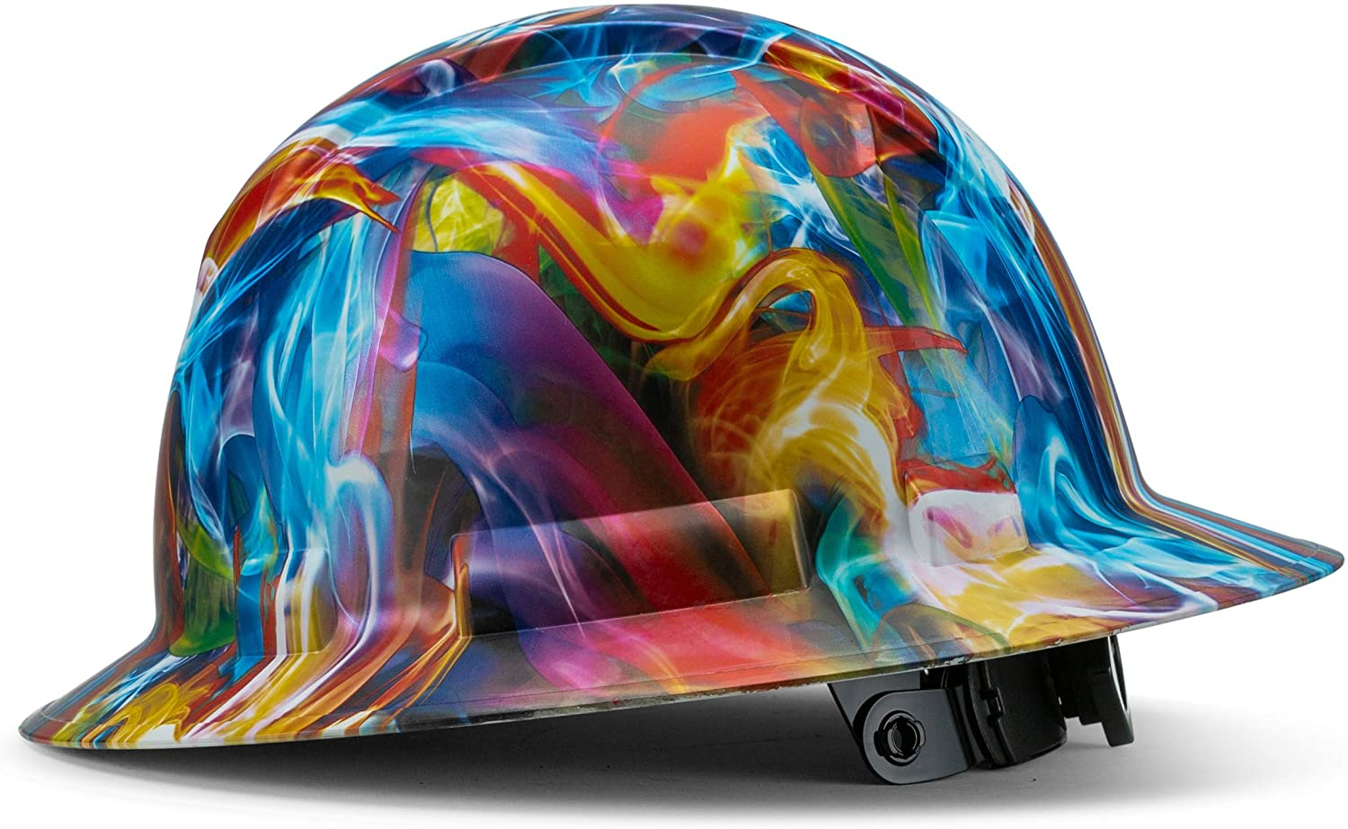 Full Brim Pyramex Hard Hat, Psychedelic Trippy Soap Art Design Safety Helmet 6pt, By Acerpal