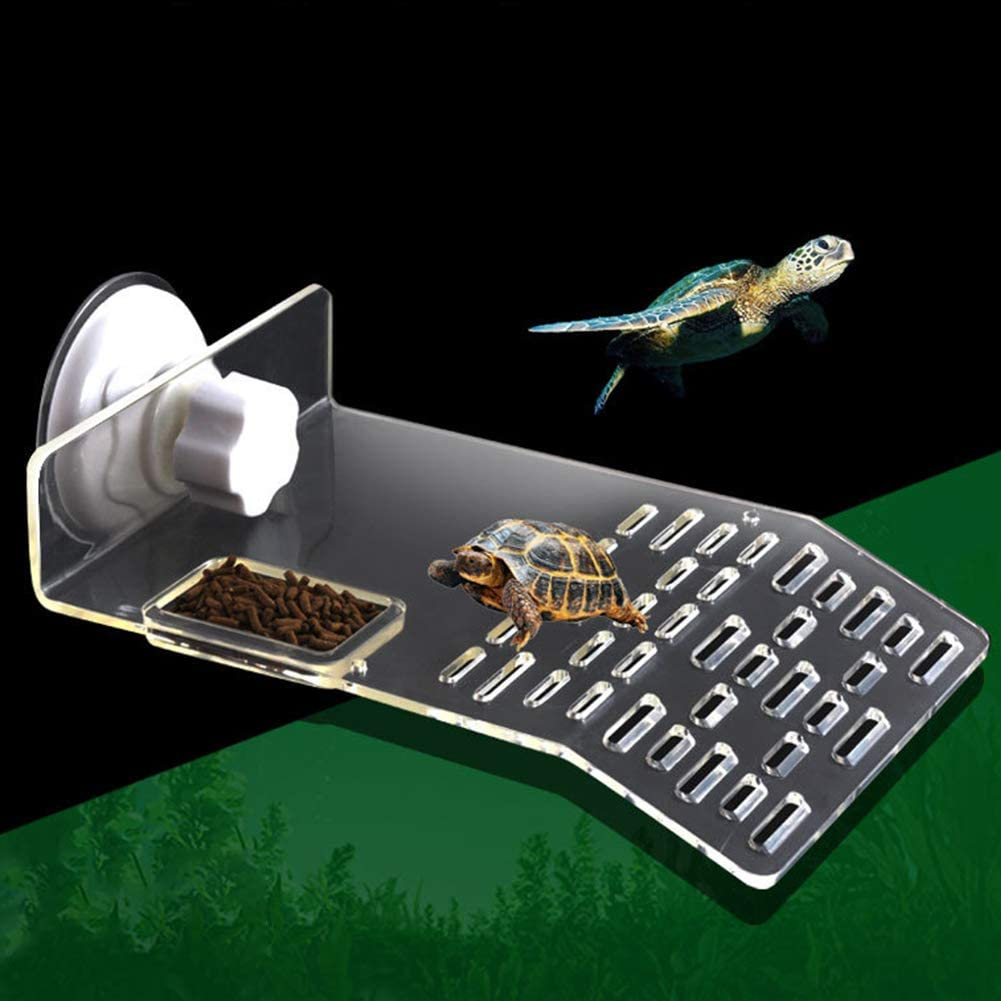XEOGUIYA Turtle Resting Basking Platform, Turtle Tank Accessories with 2Pcs Suction Cups for Aquarium Fish Tank Decorations