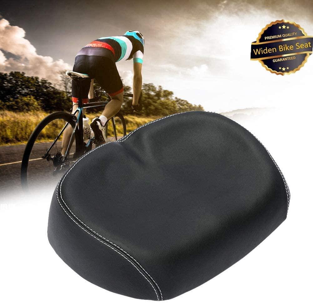MSFEIKLS Bike Comfort Seat Comfortable Extra Wide Bike Seat,Bicycle Seat No Nose Saddle Pad No Saddle Shock Bicycle