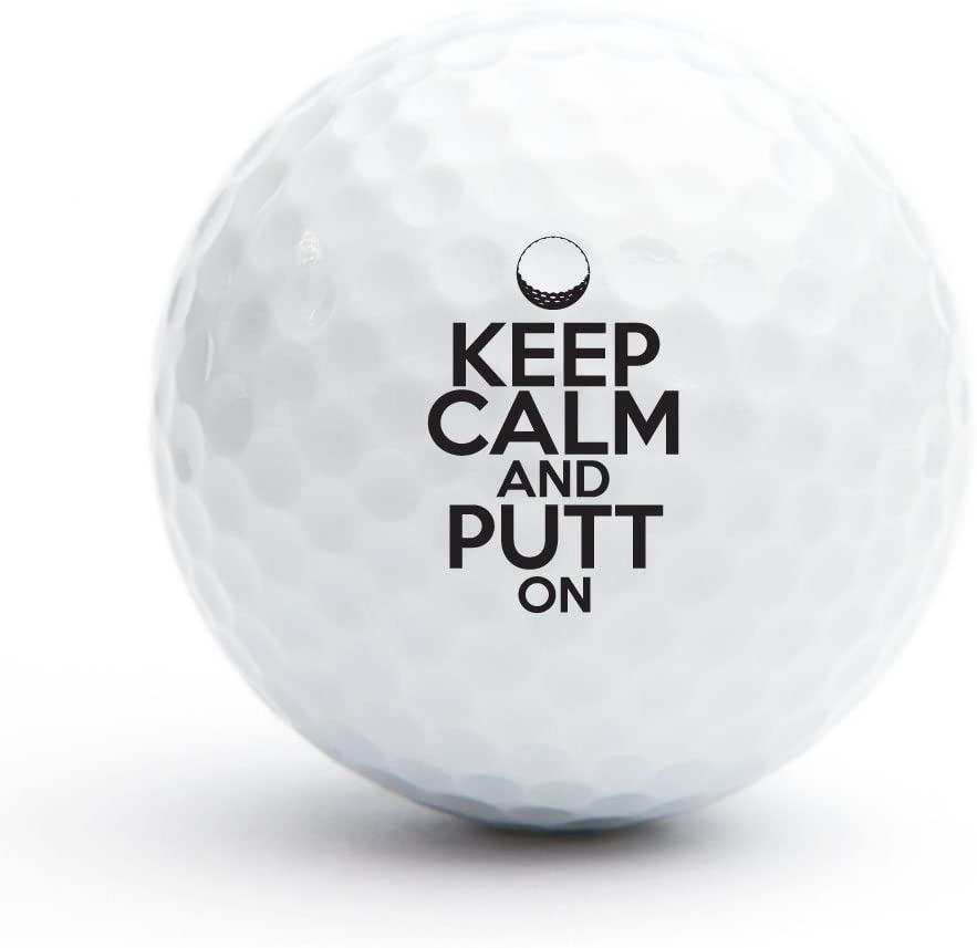 All Gifts Keep Calm and Putt On Golf Balls, Set of 18