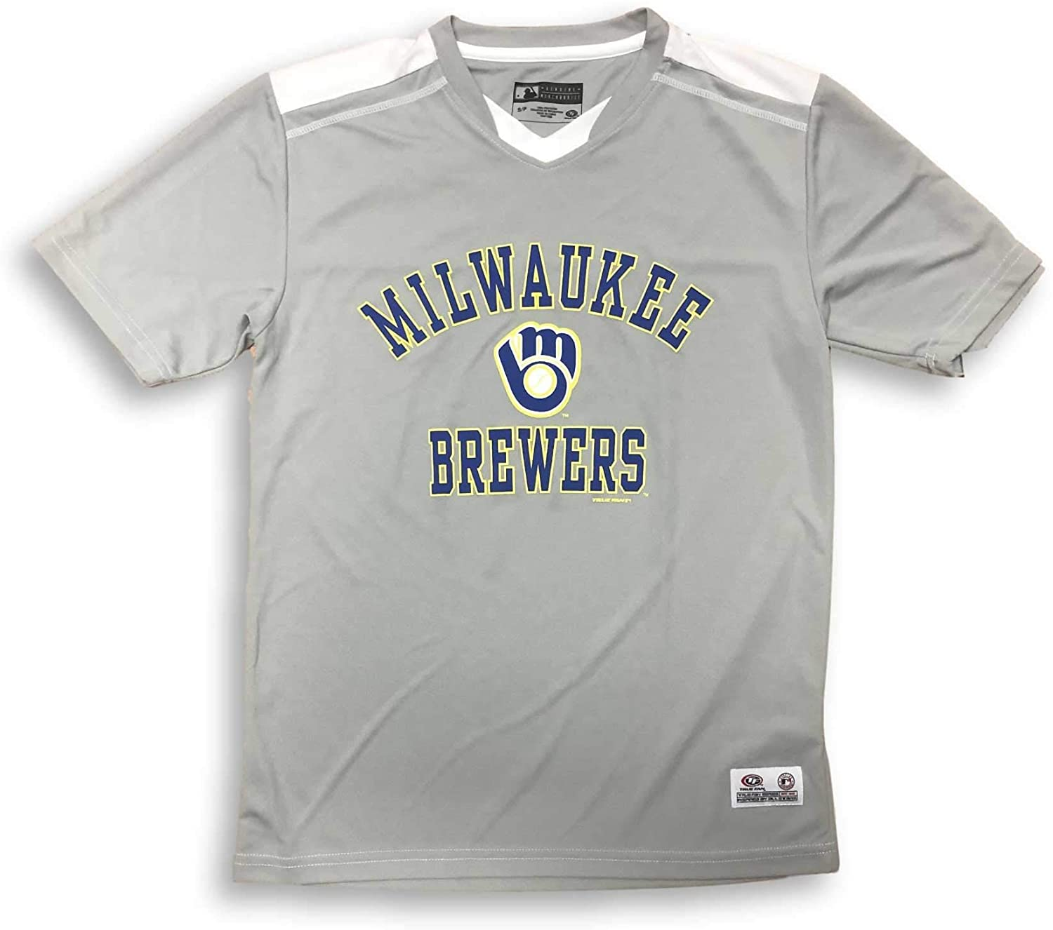 Majestic Milwaukee Brewers Dri Fit V-Neck Adult Jersey