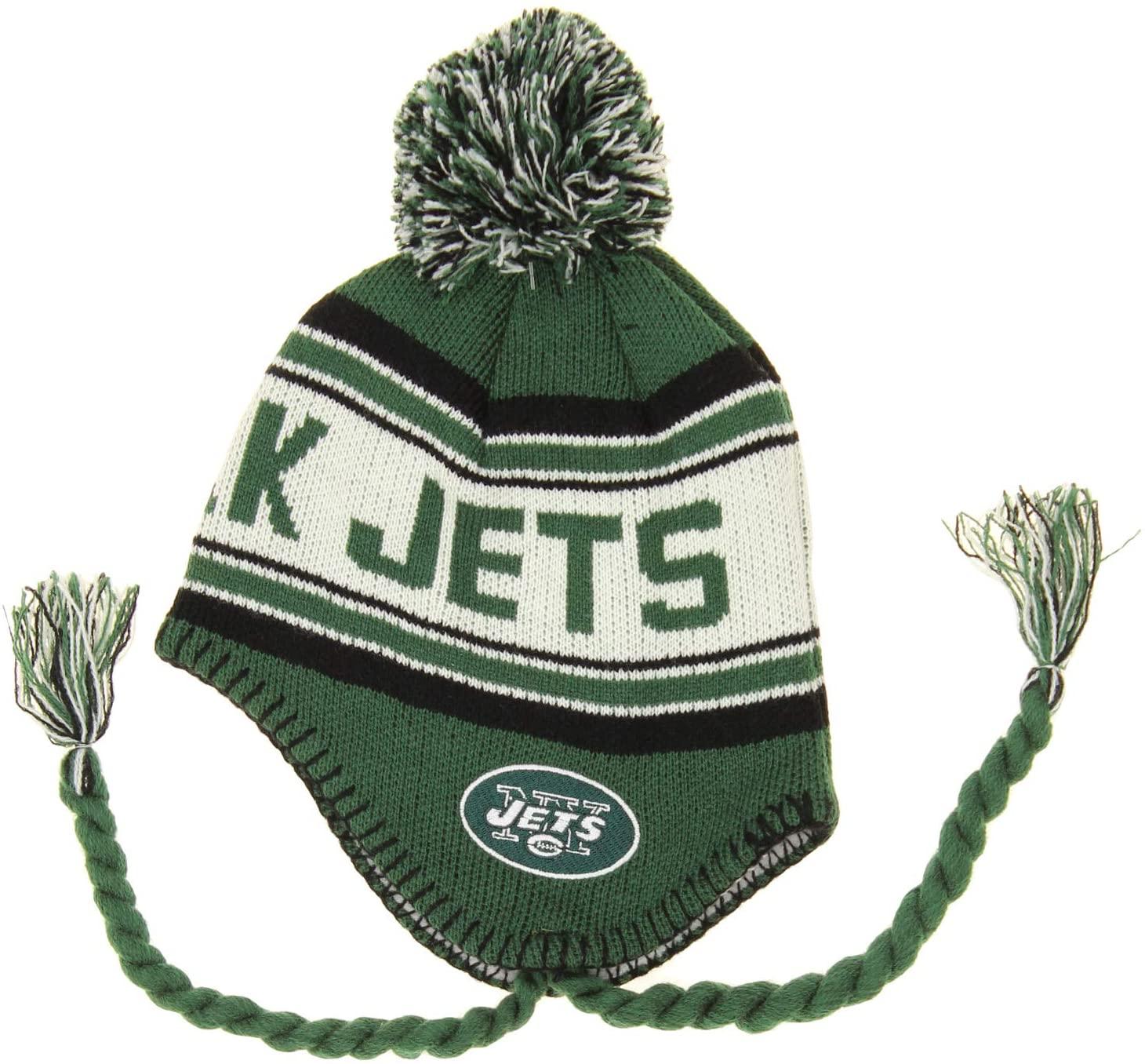 OuterStuff NFL Little Kids Boys (4-7) Jacquard Tassel Knit Pom Hat, Team Variation