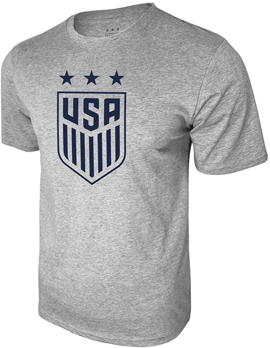 Icon Sports US Soccer USSF Logo Men's Gray Tee Large