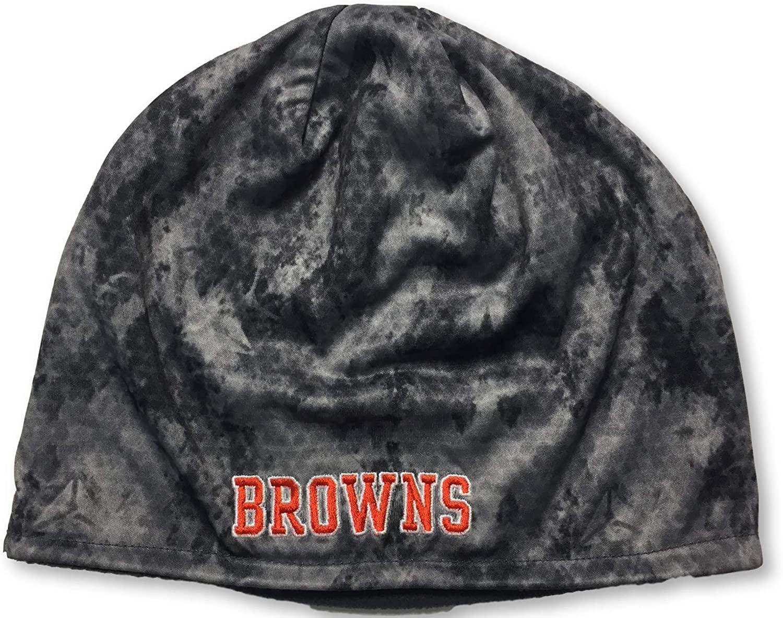 Reebok Cleveland Browns Adult Men's Dri Fit Cuffless Knit Beanie Cap Hat