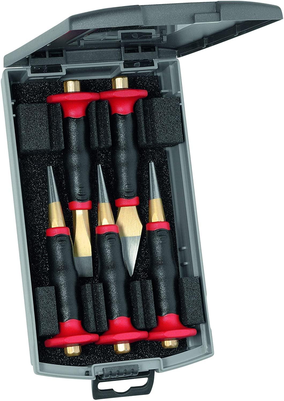 Rennsteig Premium 5 Piece Punch & Chisel Set with Hand Guard