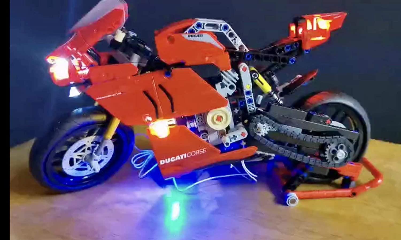 brickled LED Lighting Kit for Lego 42107 Technic Ducati Panigale V4 R (Lego Set not Included)