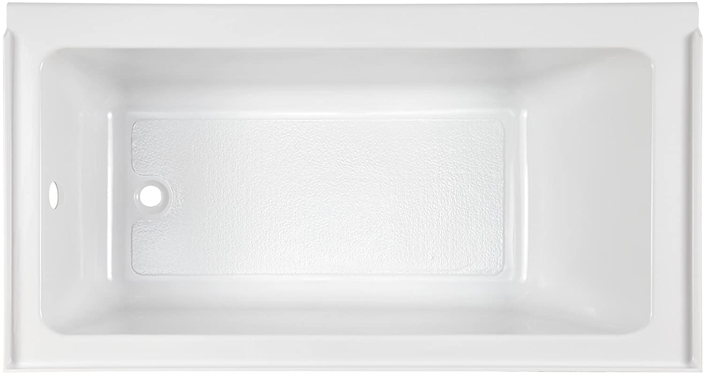 American Standard 2946212.011 Studio 60 x 32 Inch Bathtub with Fold Over Edge-Left Drain, 60 in x 32 in, Arctic