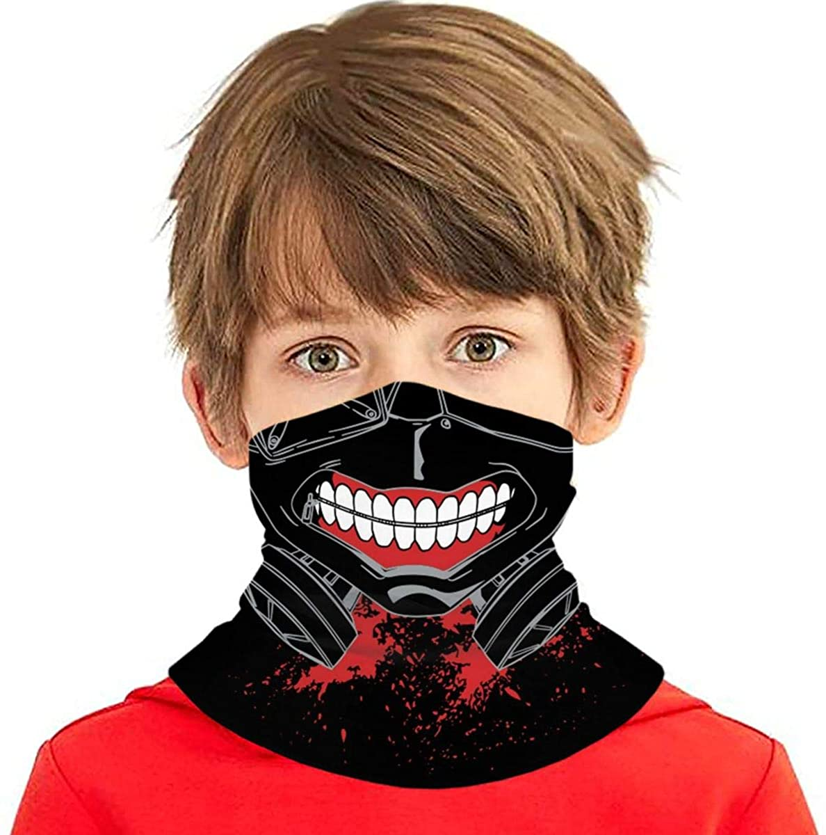 Teen Kids Shield Protection Bandanas Scarf Seamless Outdoor Neck Warmer Gaiter Headband/Balaclava Dust Face Mouth Cover