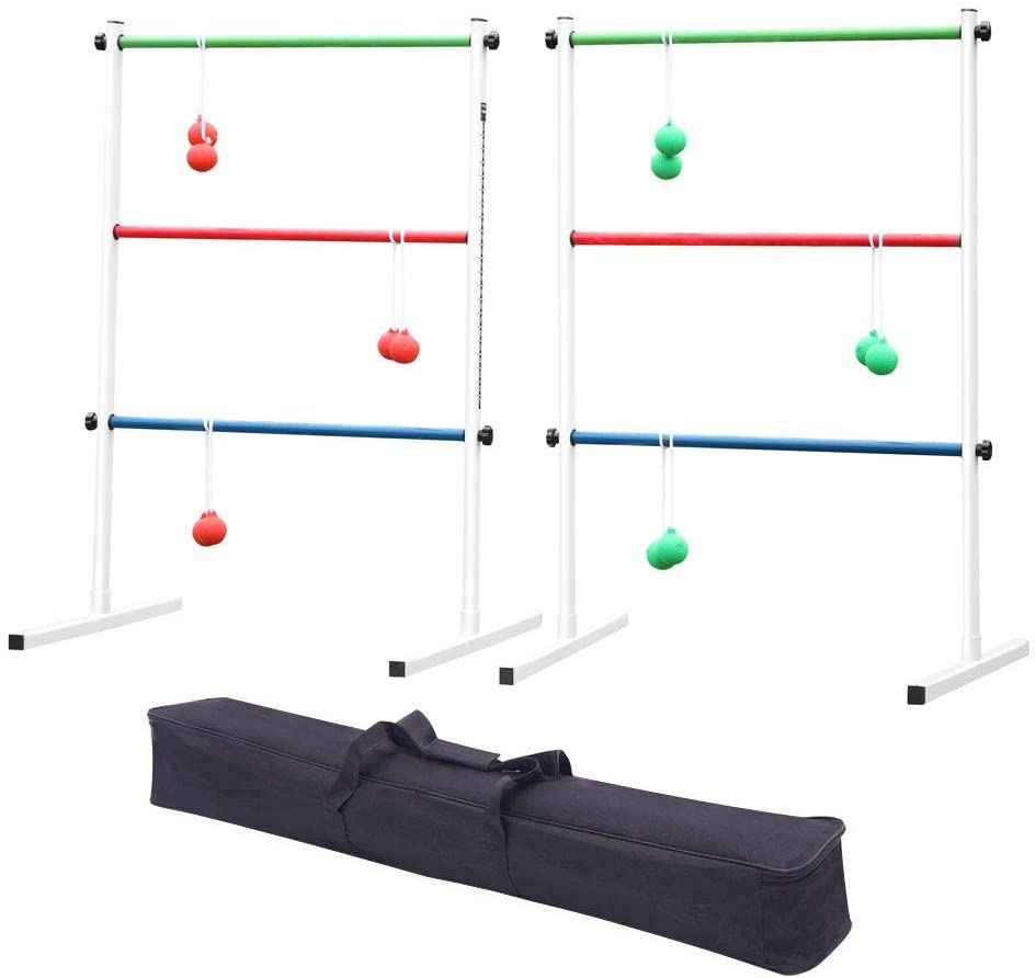 Minelody Ladder Toss Ball Game Set, Premium Ladder Ball Game with Bolos and Carrying Case Ladder Toss - Single or Double Game for Children and Adults Fun Game for Yard