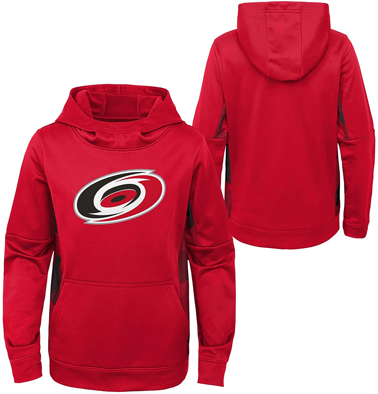OuterStuff Youth NHL Carolina Hurricanes Performance Hoodie Youth Sizing (Youth S (6/8))