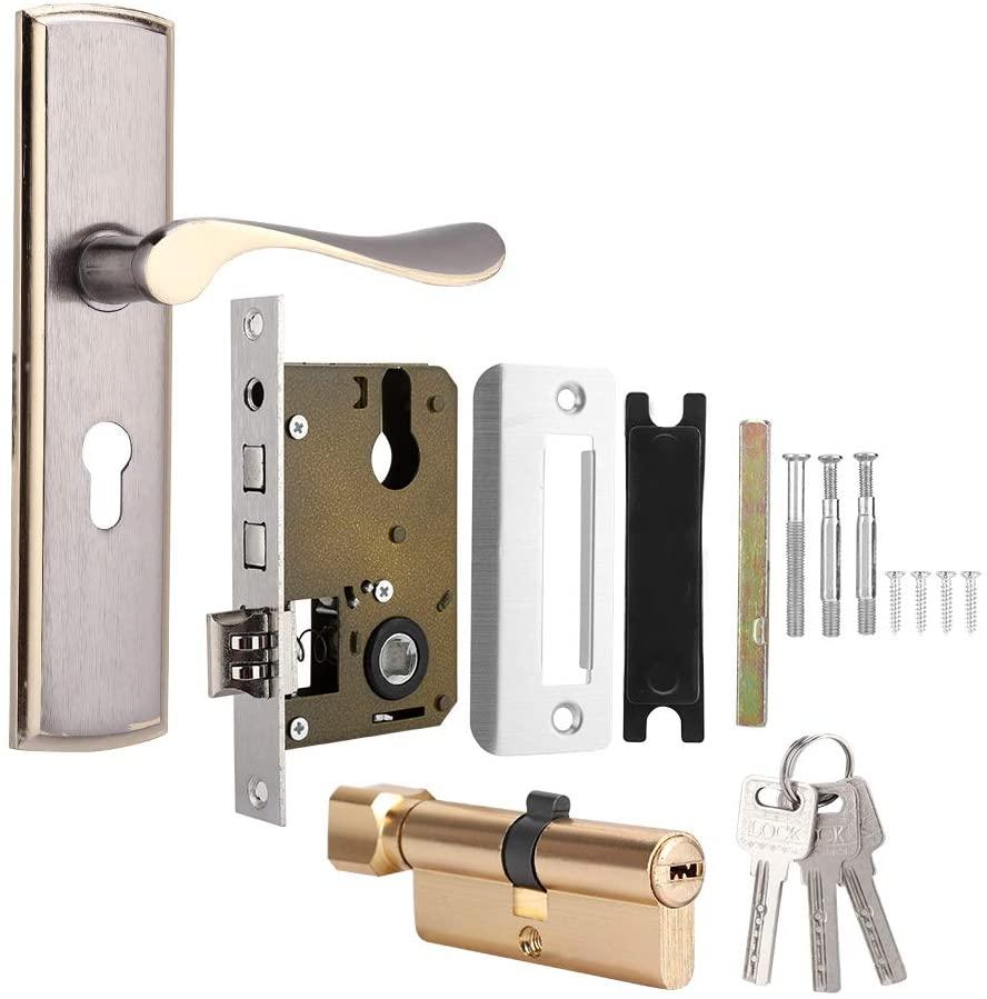 iFCOW Door Lock, Durable Aluminum Door Lock for Home Security Indoor Bedroom Living Room