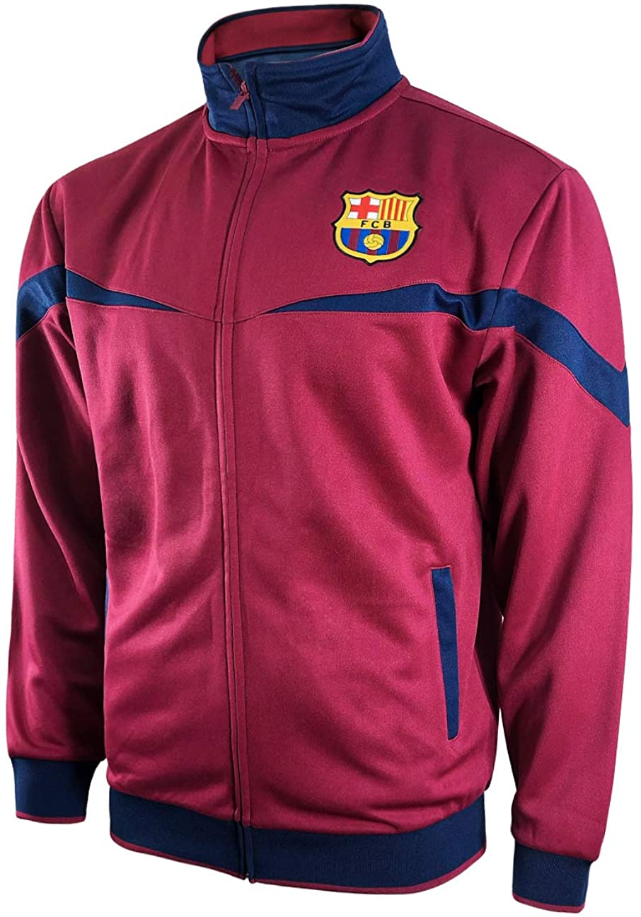 Icon Sports FC Barcelona Full-Zip Barça Track Jacket (Youth Small, Red)