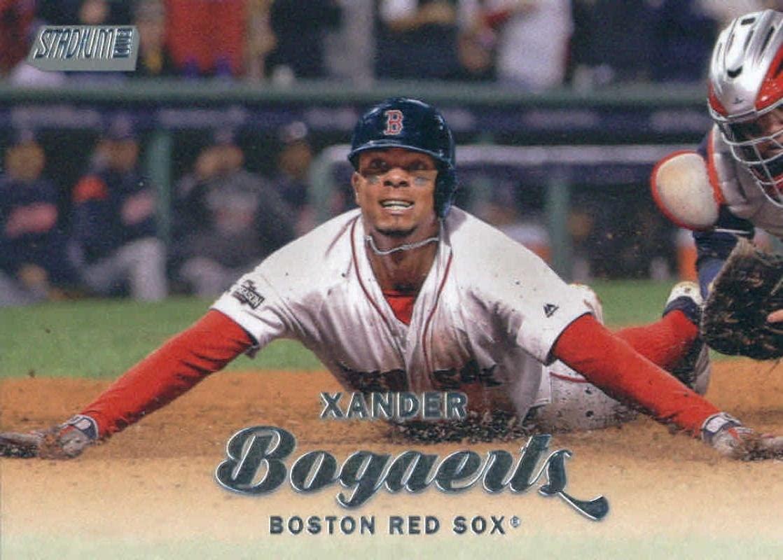 2017 Topps Stadium Club #190 Xander Bogaerts Boston Red Sox Baseball Card