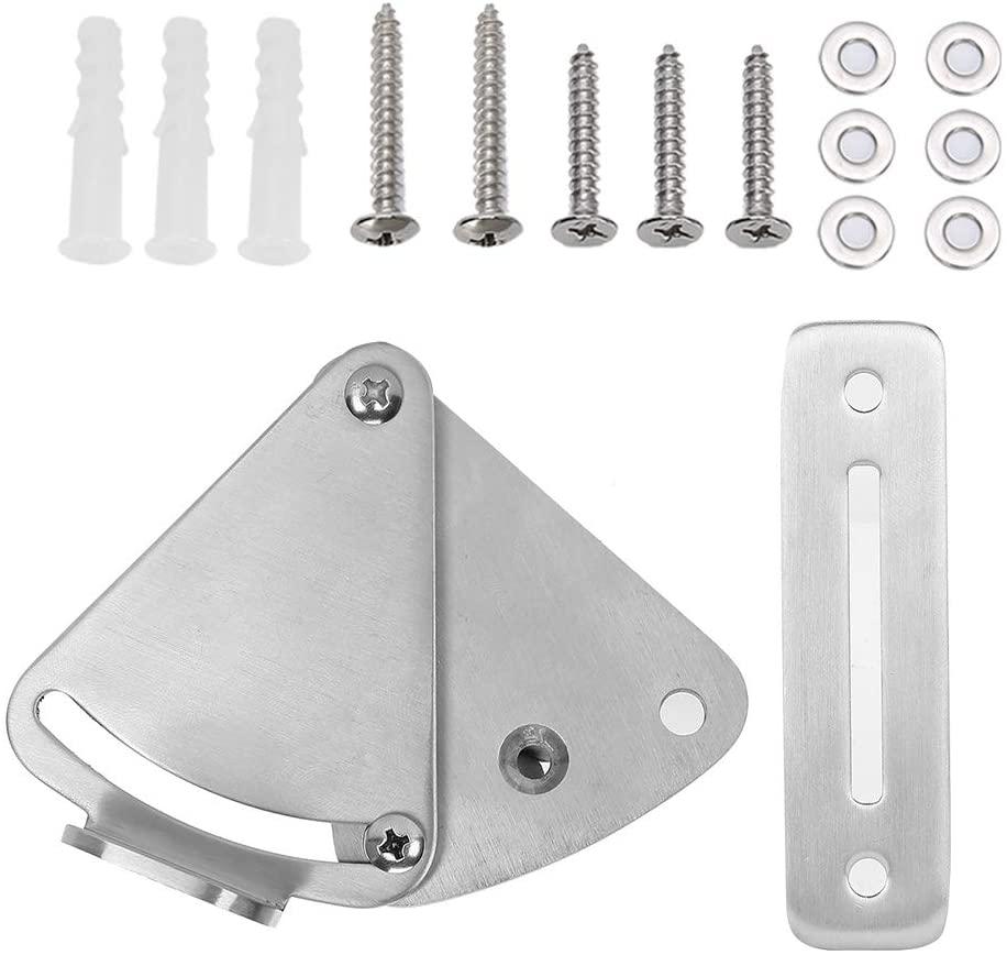 Door Latch,Stainless Steel Sliding Barn Door Security Slide Latch Lock Set Safe and Private Hardware Accessory for Bathroom Bedroom
