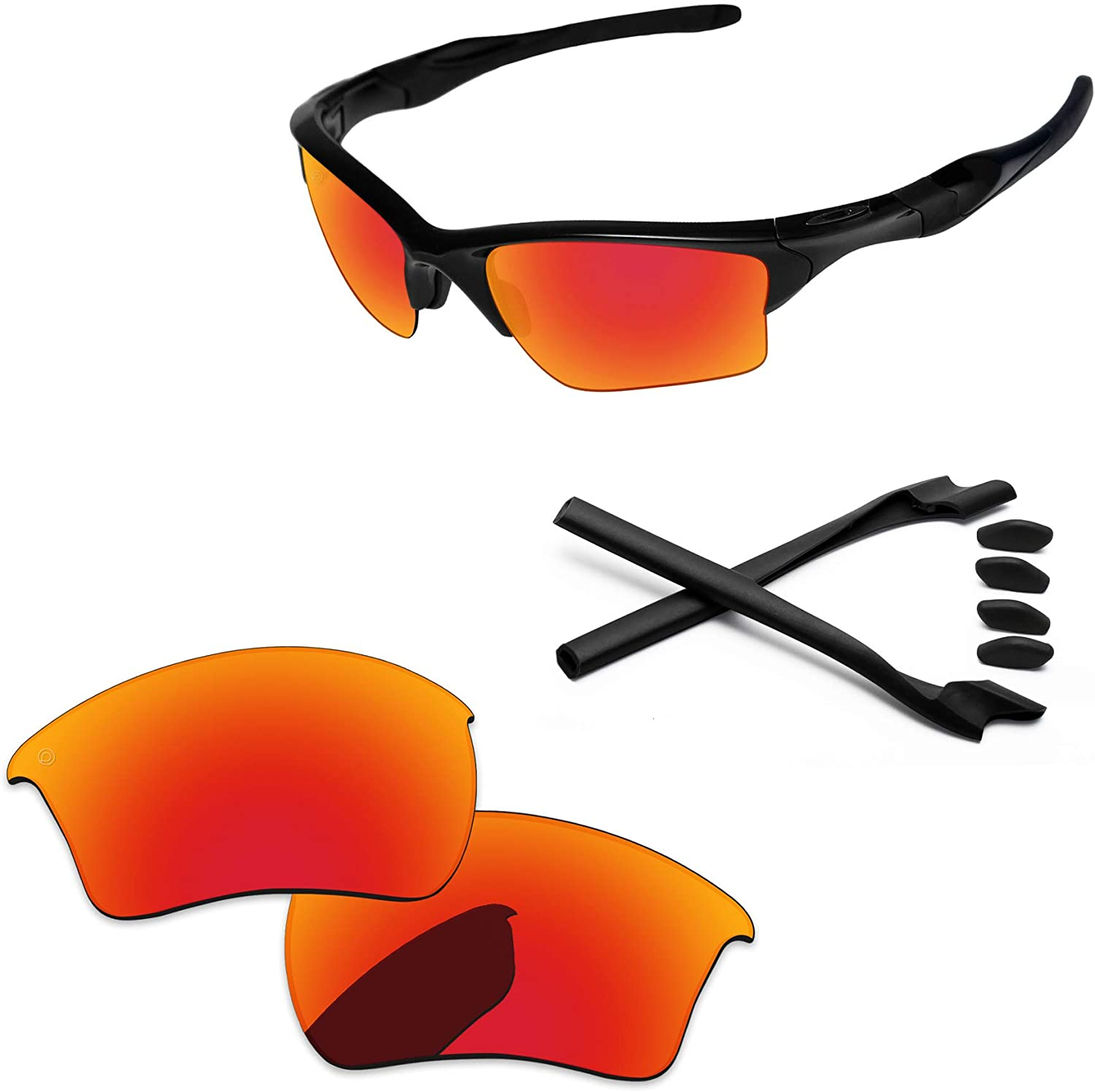 PapaViva Lenses Replacement & Rubber Kits for Oakley Half Jacket 2.0 XL OO9154