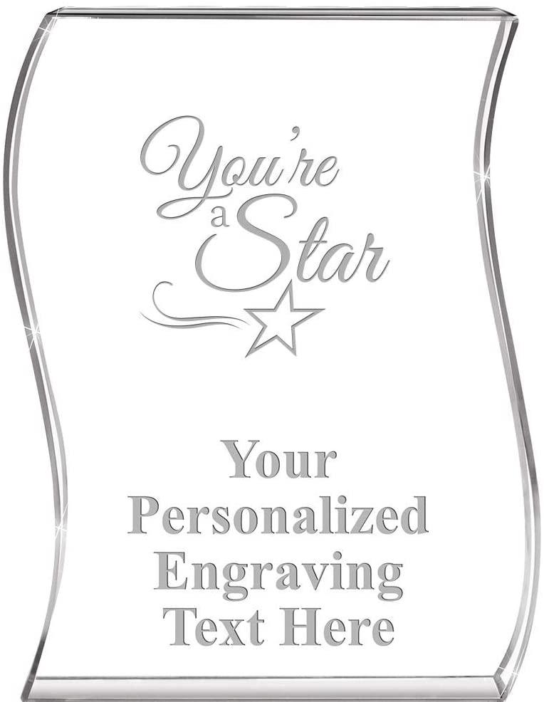 You are A Star Wave Acrylic Award, 4