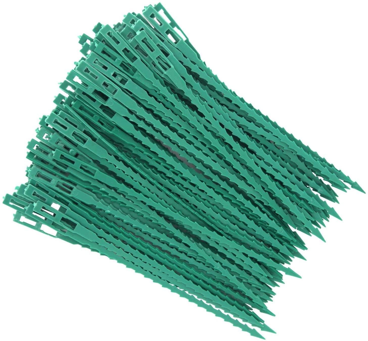 Ruthe 100 Pieces 6.7 Inch Flexible Plastic Twist Ties, Adjustable Garden Plant Twist Ties for Multi-Purpose Gardening Support DIY Tools