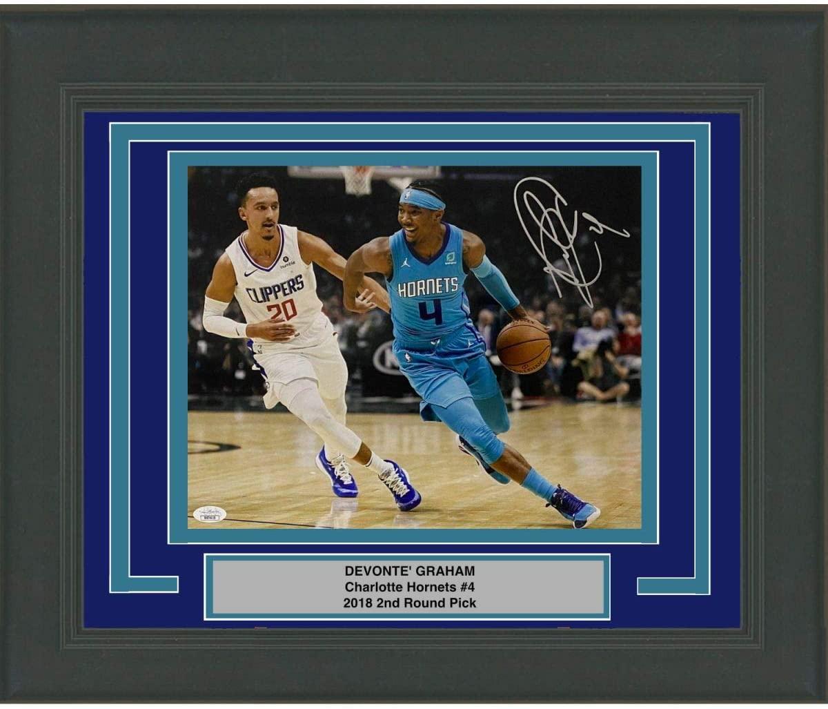 Framed Autographed/Signed Devonte' Graham Charlotte Hornets 11x14 Basketball Photo JSA COA
