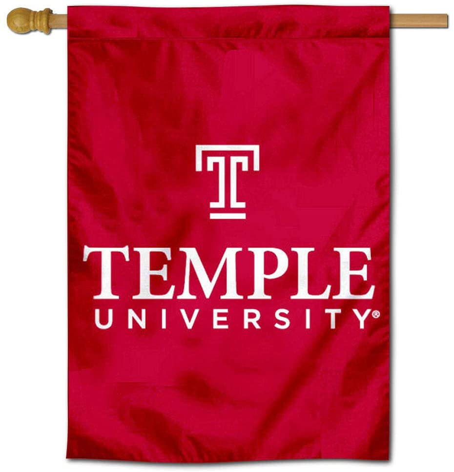 College Flags & Banners Co. Temple Owls Wordmark Two Sided and Double Sided House Flag