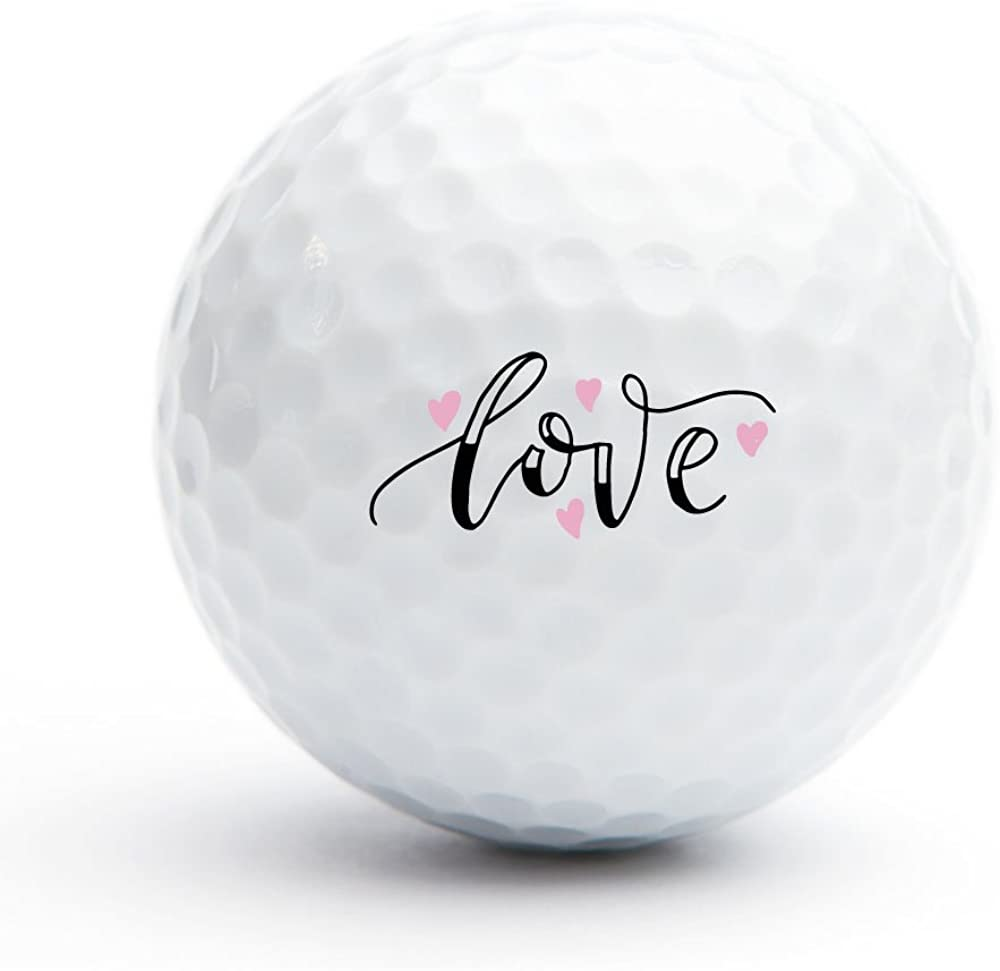 All Gifts Love Golf Balls, Set of 18