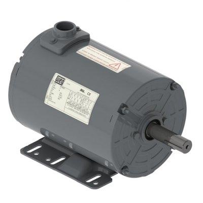 WEG Electric 00736AP3EGD184TZ-S, 5,7.5HP, 3600 RPM, 3PH, 230V/460V, 182/4TZ Frame, Standard Flange, Foot Mount, TEAO, Grain Dryer/Vane Axial Fan Motor