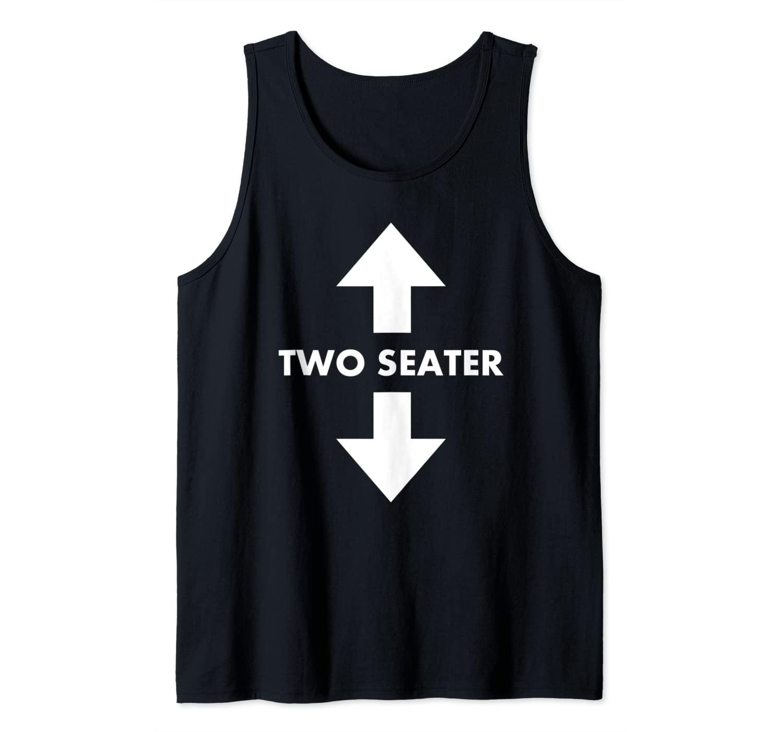 Funny Two Seater Arrow Dad Joke Meme Gift Tank Top