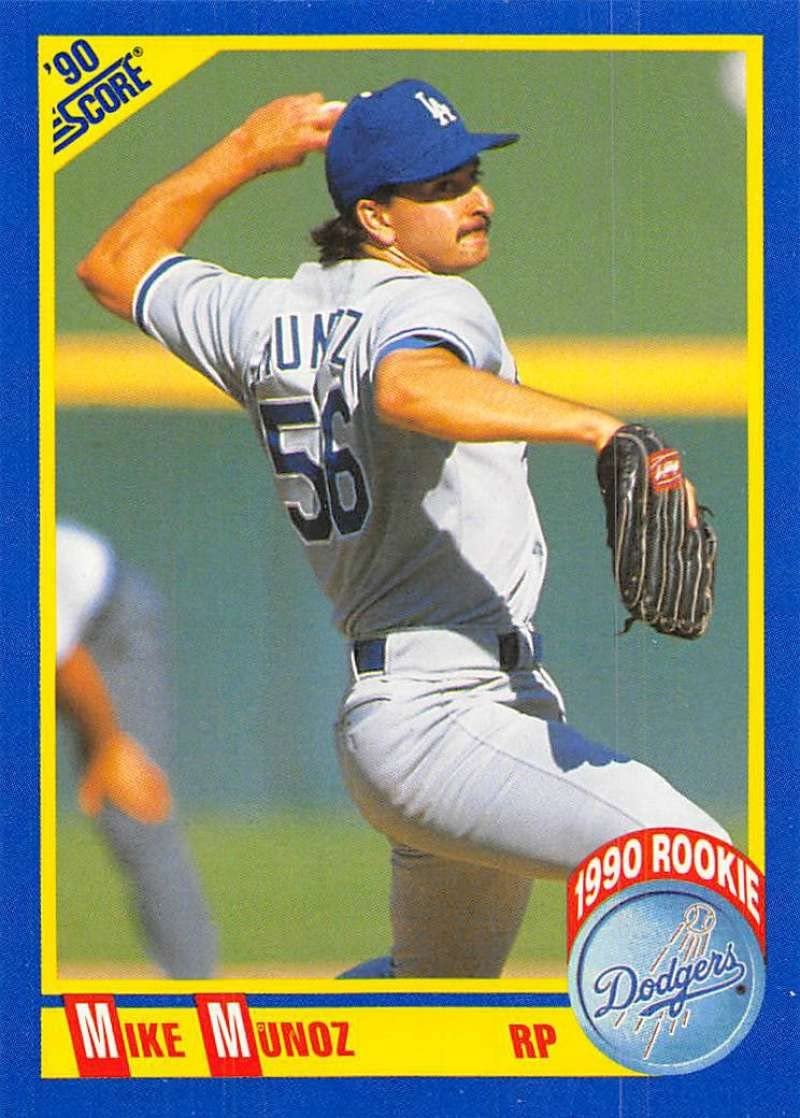 1990 Score #653 Mike Munoz RC Rookie Card Dodgers