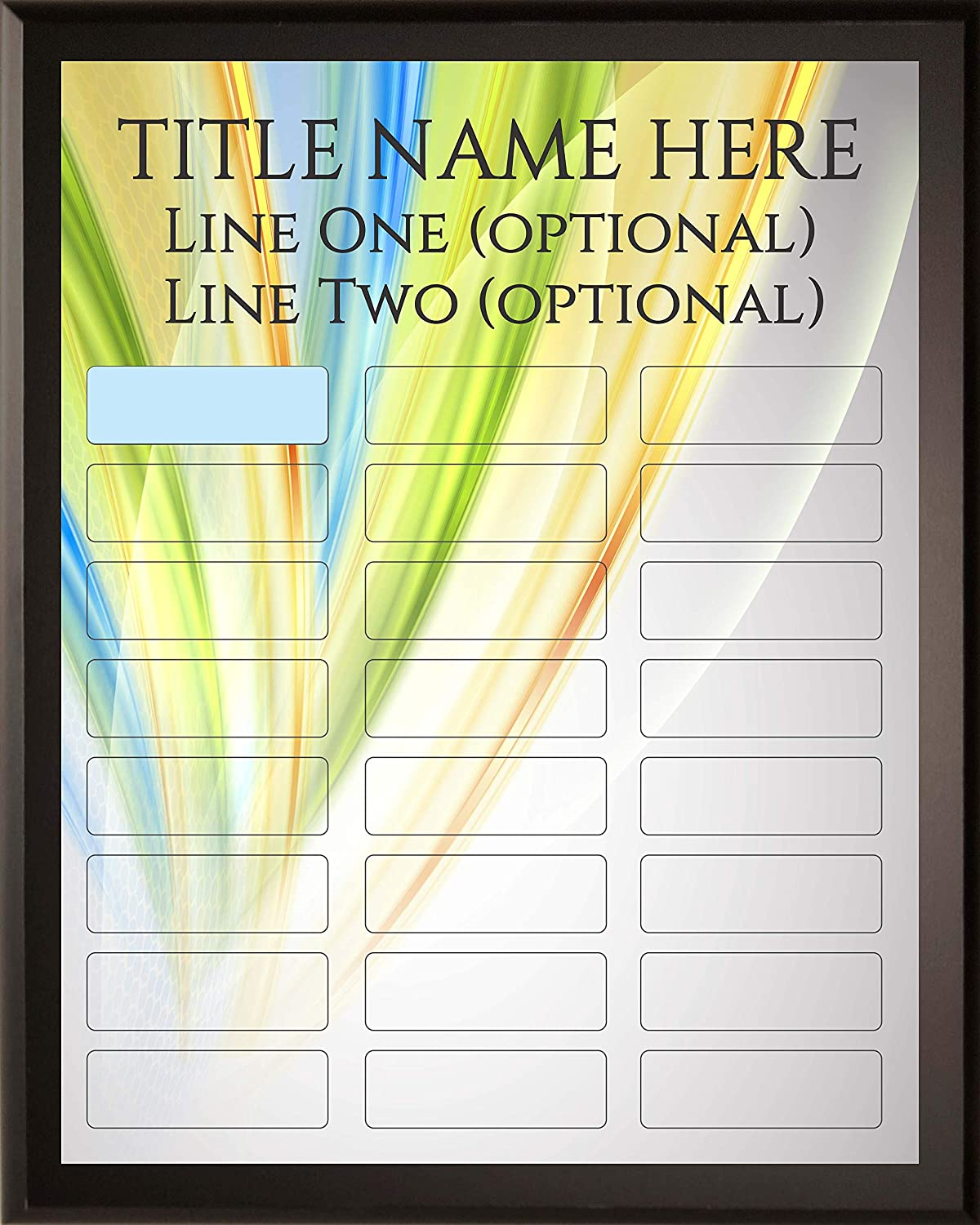 Employee of The Month DIY Perpetual Colored Leaves Plaque Magic Recognition Award Kit - 24 Plate Model - Fully Customizable - Salesperson of The Month - No Engraving Needed Do It Yourself