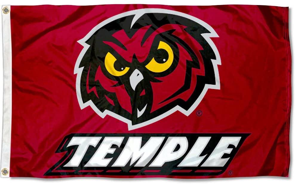 Temple Owls University Large College Flag