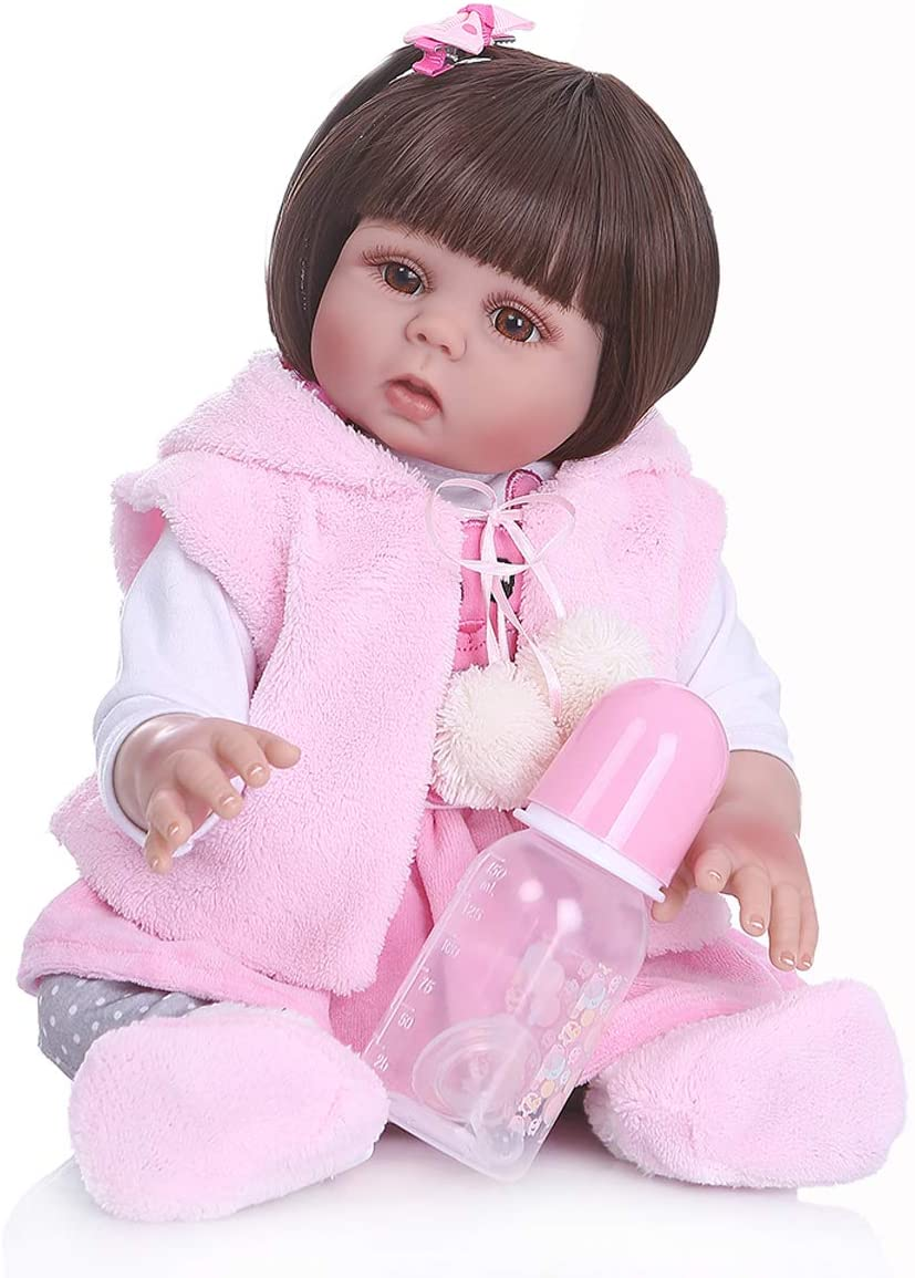 TERABITHIA 18inch 47cm Cute Preemie Anatomically Correct Waterproof Soft Silicone Vinyl Full Body Reborn Baby Dolls That Look Real and Feel Real