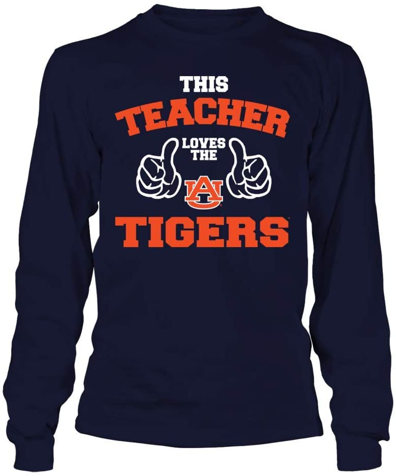 FanPrint Auburn Tigers T-Shirt - This Teacher Loves The