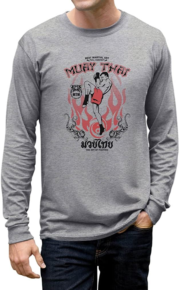TeeStars Men's - Muay Thai Long Sleeve T-Shirt