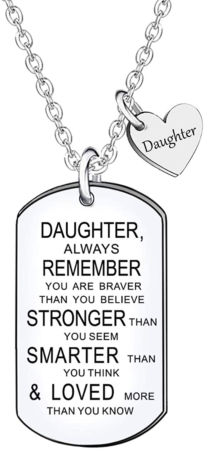 Daughter Gift Inspirational Necklace Jewelry For Women Birthday Christmas Graduation Gifts