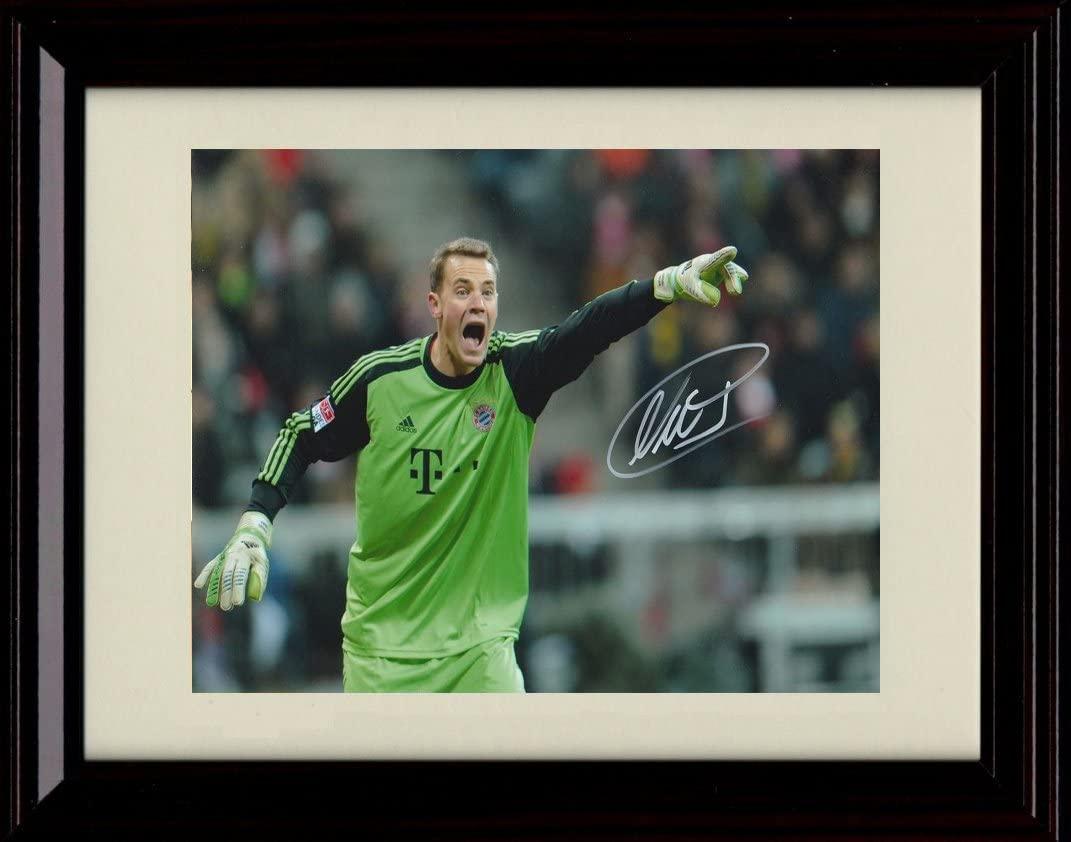Framed Manuel Neur Autograph Replica Print - Team Germany World Cup