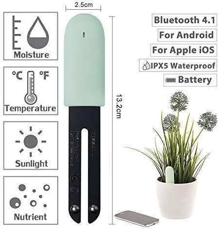 Plant Monitor, Soil Test kit, Flower Care, Soil Moisture Tester, Smart Plant Tracker, Smart Sensor, Plant Detector, Flower Plant Care for Home Garden Farm (Green)