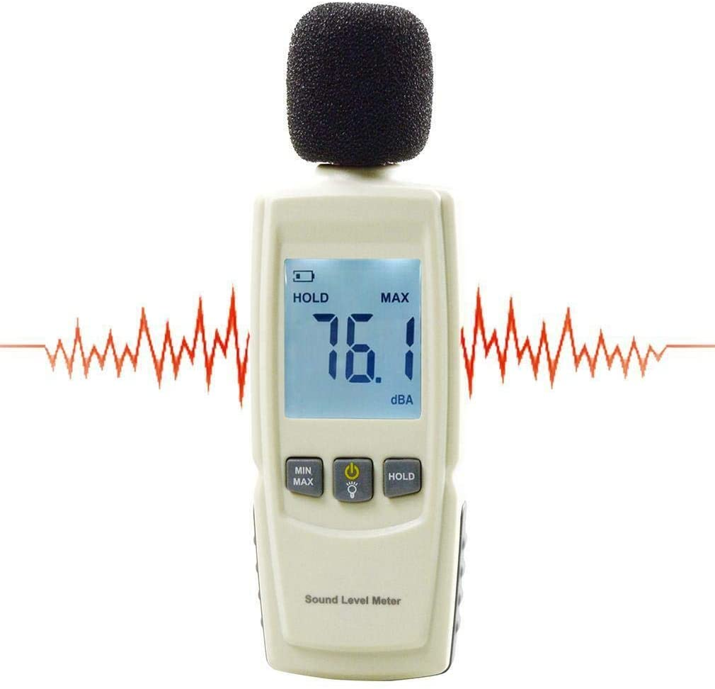 Maso Sound Level Meter, 30-130dB Digital Noise Volume Decibel Monitoring Tester for Industry, Agriculture and Daily Life (Including Battery)