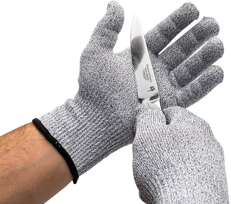 Life Protector Gray Large Cut Resistant Glove - Level 5, Food Safe - 9