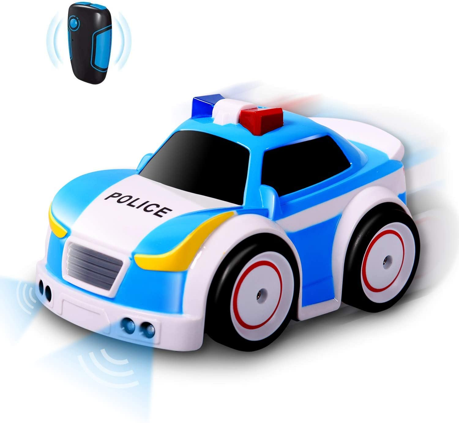 tonason Remote Control Police Toy Car 2.4GHz Motion Gravity Four Modes with Obstacle Avoidance and Gravity Sensors
