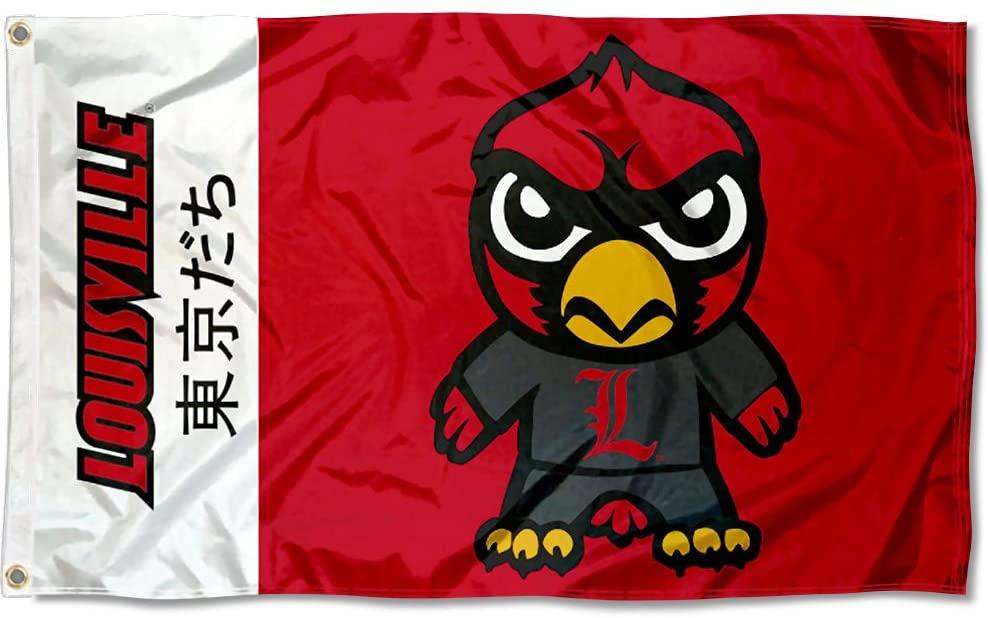 Sewing Concepts Louisville Cardinals Kawaii Tokyodachi Mascot Flag