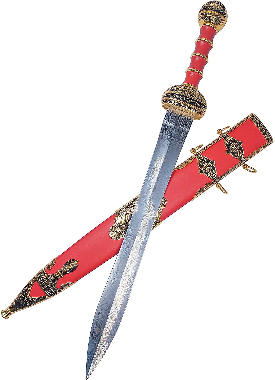 LOOYAR Roman Centurion Gladius Sword Display Sword Julius Caesar Medieval Knight Soldier Warrior for Battle Play Halloween Cosplay LARP Home Office Decoration Steel