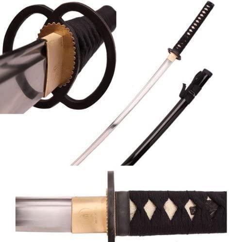 Ace Martial Arts Supply Full Size Samurai Sword Fully Handmade Razor Sharp Musashi Tsuba Katana-Musha