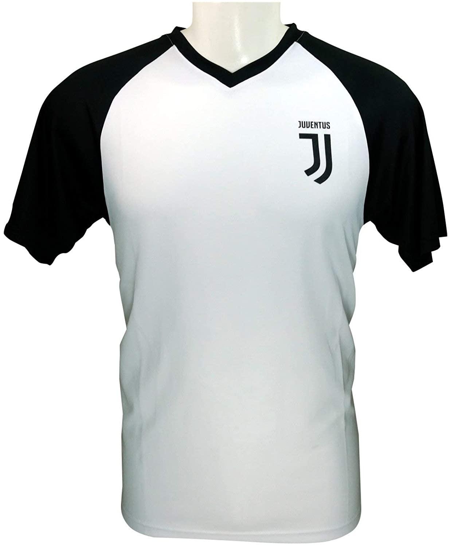Icon Sports Mens International Soccer Juventus Short Sleeve Game Polyshirt, Large